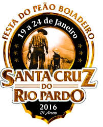 FESTA DO PEÃO DE STA CRUZ DO RIO PARDO - 2016